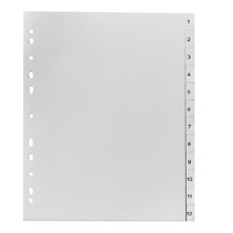 herlitz Kunststoff-Register, Zahlen, A4