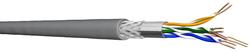 Draka SF/UTP Installationskabel 500 m, Kat.5e, 100 MHz, grauFolien- und Geflechtsschirm,