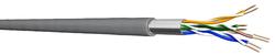 Draka SF/UTP Installationskabel 100 m, Kat.5e, 100 MHz, grauFolien- und Geflechtschirmung