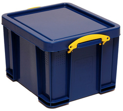 Really Useful Box Aufbewahrungsbox 64 Liter, vollfarbig blaumit Deckel, aus recycelbarem