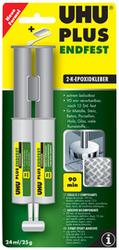 UHU 2-Komponenten-Klebstoff plus endfest,DoppelkammerspritzeEpoxidharzbasis, lösemittelfr
