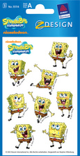 AVERY Zweckform ZDesign Sticker SpongeBob 3D aus Papier, Blattformat: 76 x 120 mm Inhalt: 3 Blatt � 8 Sticker (55114)